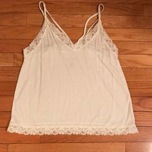 White lace camisole top